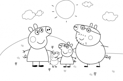 Coloriage Peppa 8