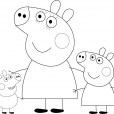Coloriage Peppa 9