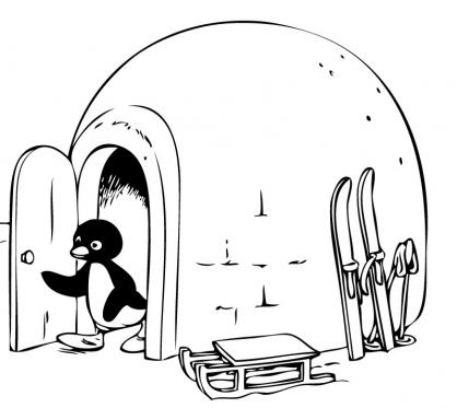 Coloriage Pingu 16
