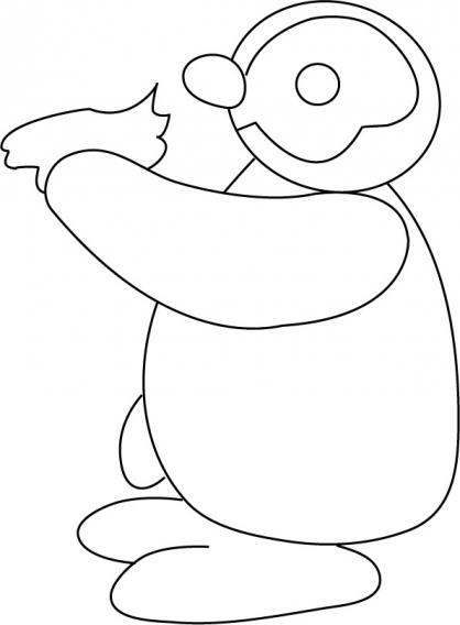 Coloriage Pingu 19