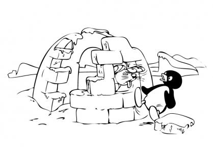 Coloriage Pingu 27