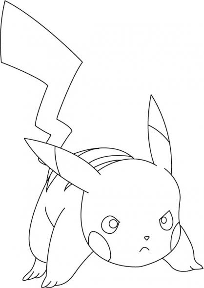 Coloriage Pikachu