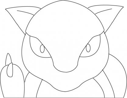 Coloriage Pokémon Abra