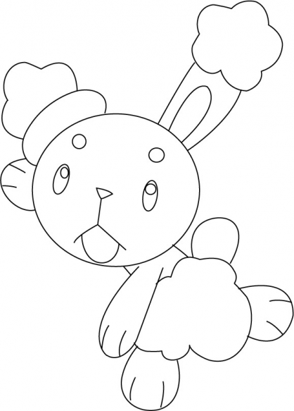 Coloriage Pokémon Laporeille