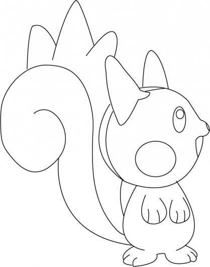 Coloriage Pokémon Pachirisu