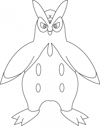 Coloriage Pokémon Prinplouf
