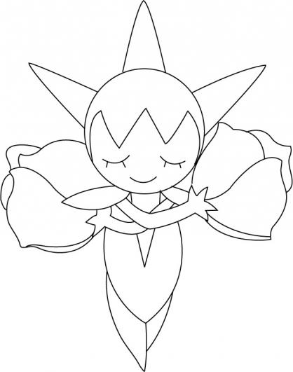 Coloriage Pokémon Roselia