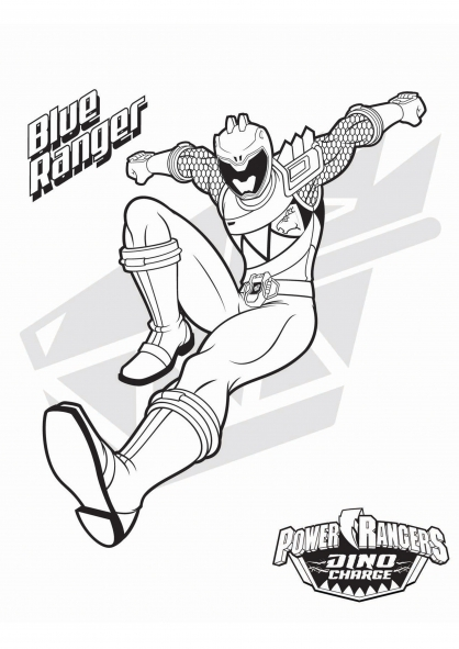 Coloriage le power ranger bleu coloriage power rangers dinocharge coloriage dessins animes - Dessin power rangers ...