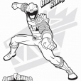 Coloriage Le Power Ranger noir