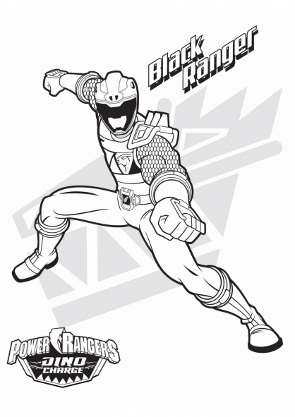 Coloriage le power ranger noir coloriage power rangers dinocharge coloriage dessins animes - Dessin power rangers ...