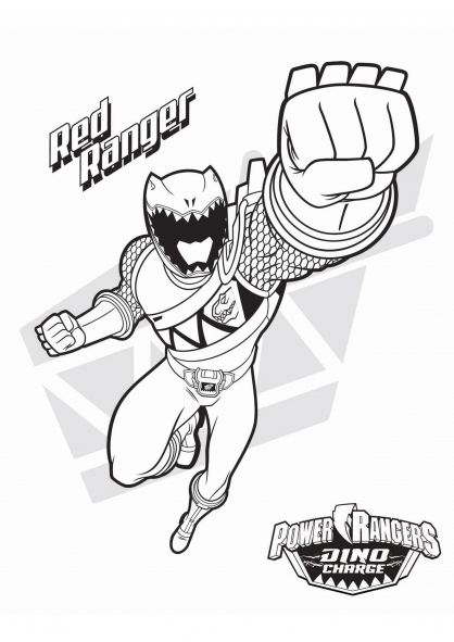 Coloriage le power ranger rouge coloriage power rangers - Power rangers samurai dessin ...