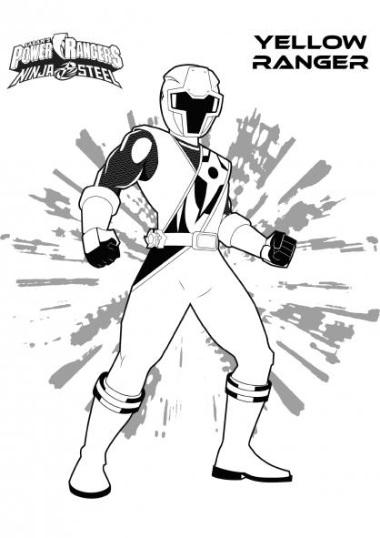 Coloriage Ranger Jaune