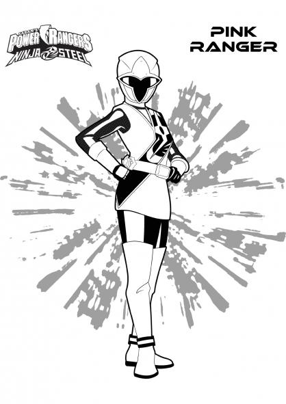 Coloriage Ranger Rose