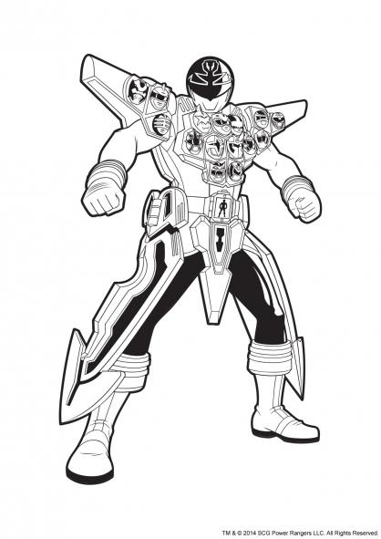 Coloriage power rangers argent en armure coloriage power - Dessin armure ...