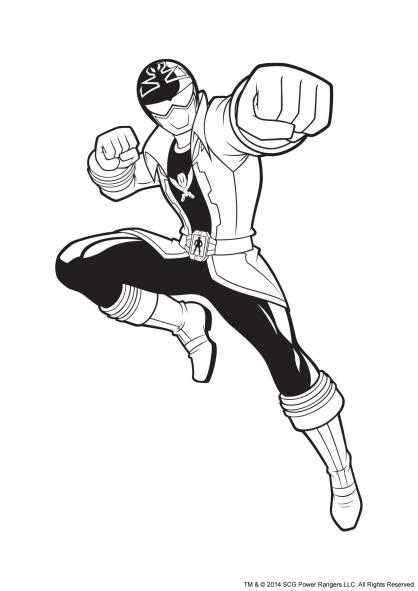 Coloriage Power Rangers Argent