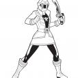 Coloriage Power Rangers Jaune 2