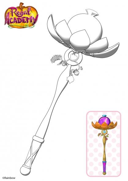 coloriage la baguette magique coloriage regal academy
