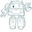 Coloriage Robocar Poli : Ambre (2)