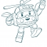 Coloriage Robocar Poli : Héli (2)