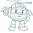 Coloriage Robocar Poli : Héli (3)
