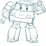 Coloriage Robocar Poli : Poli (3)