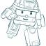 Coloriage Robocar Poli : Roi (2)