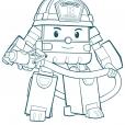 Coloriage Robocar Poli : Roi (3)