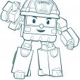 Coloriage Robocar Poli : Roi (4)