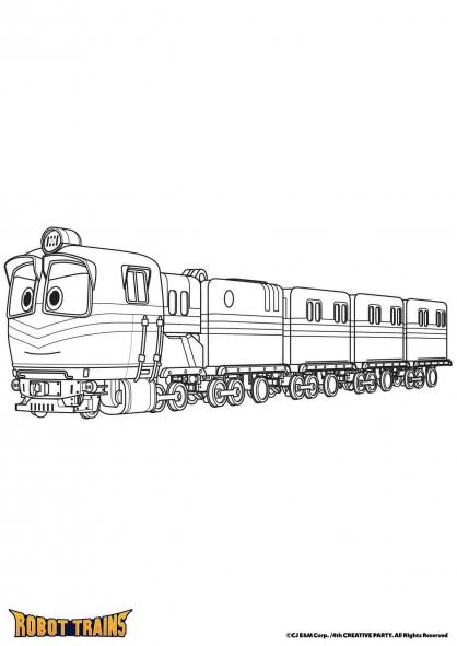 Coloriage Alf en mode train