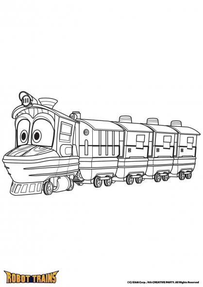 Coloriage Duck en mode train