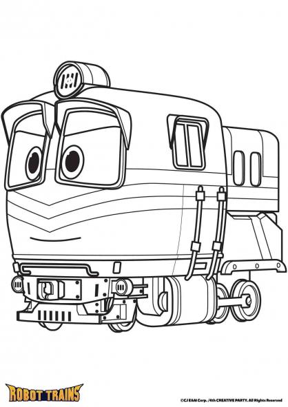 Coloriage La locomotive Alf