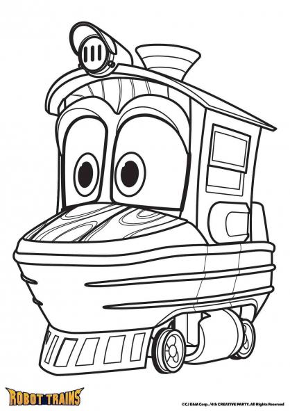 Coloriage La locomotive Duck