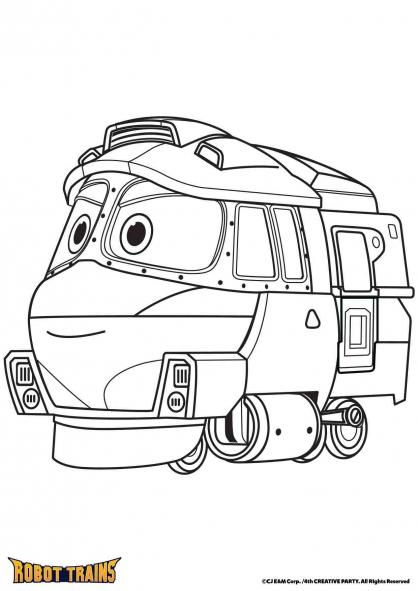 Coloriage La locomotive Kay