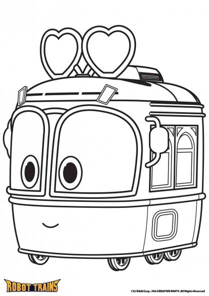 Coloriage La locomotive Selly