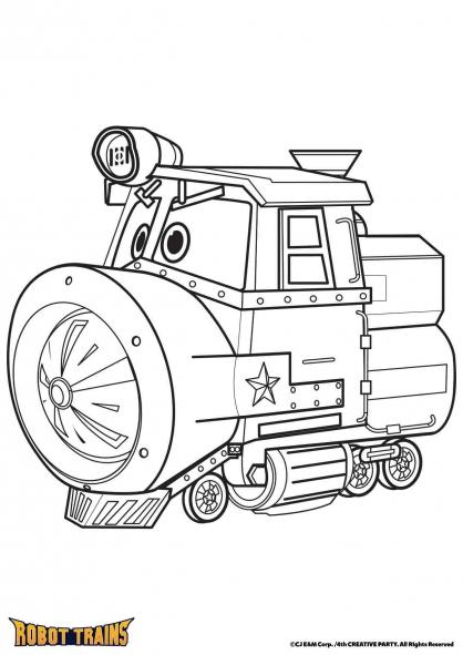 Coloriage La locomotive Victor