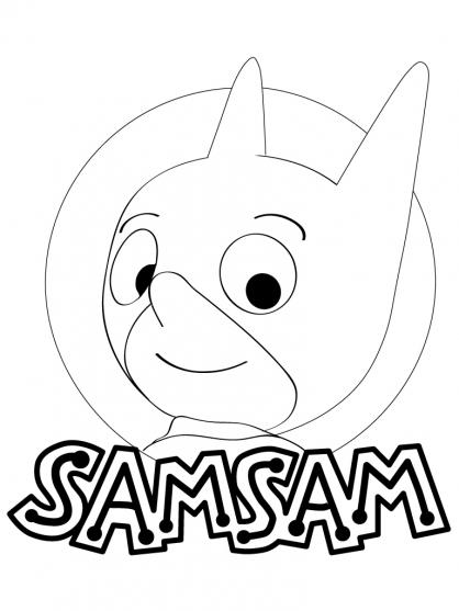 Coloriage SamSam 1