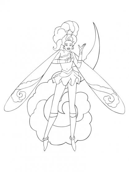 Coloriage Sky Dancer 1