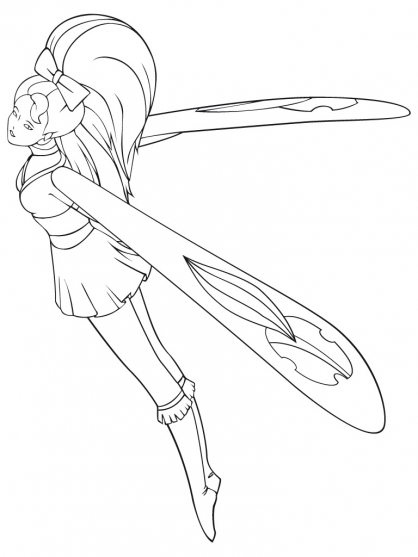Coloriage Sky Dancer 3