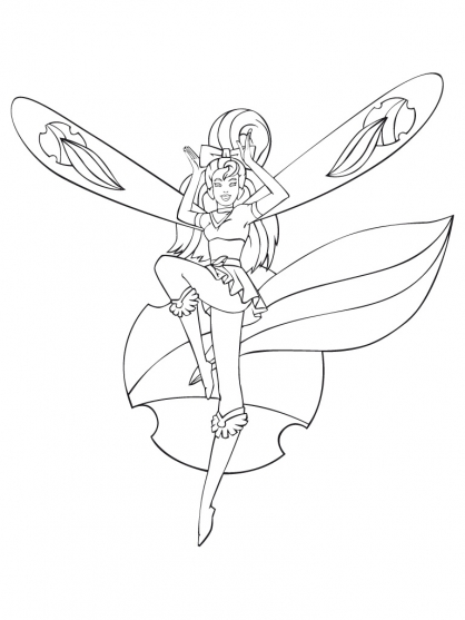 Coloriage Sky Dancer 9