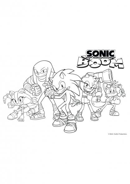 Coloriage la bande de sonic boom au complet coloriage - Boom dessin anime ...