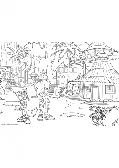 Coloriage sonic et tails coloriage sonic boom - Boom dessin anime ...