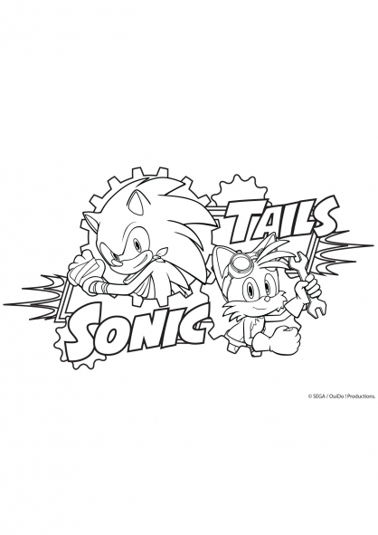 Coloriage tails et sonic coloriage sonic boom - Boom dessin anime ...