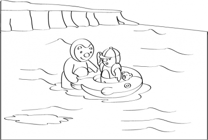 Se r veille coloriage for Choupi a la piscine