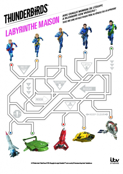 Coloriage Le labyrinthe Thunderbirds