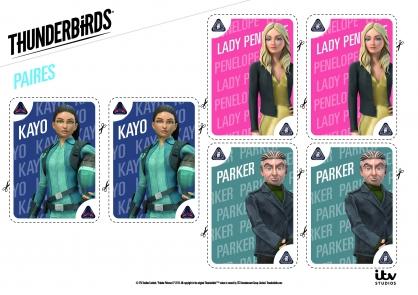 Coloriage Les paires de Kayo, Lady Penelope et Parker