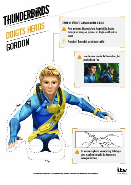 Coloriage Ta marionnette Gordon Tracy