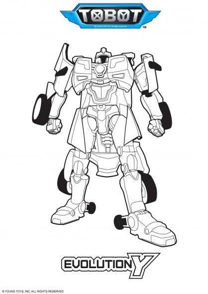 Coloriage evolution y coloriage tobot coloriage dessins animes - Coloriage tobot ...