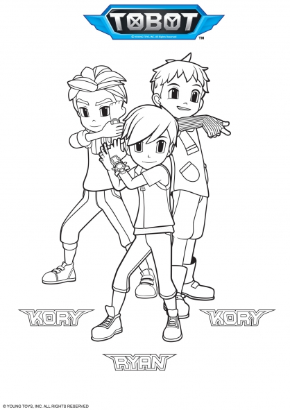 Coloriage kory et ryan coloriage tobot coloriage dessins animes - Coloriage tobot ...