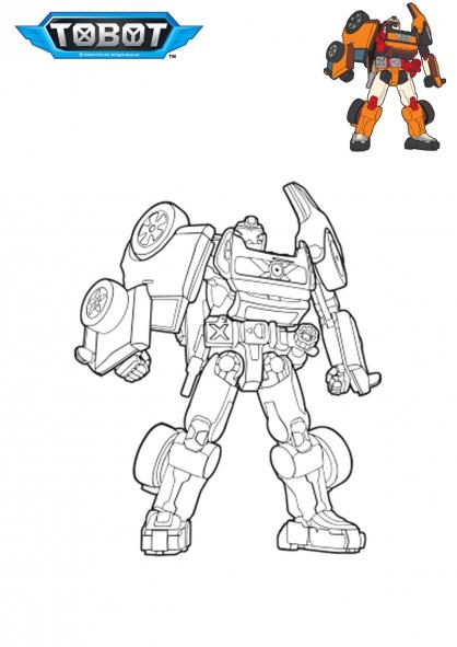 Coloriage tobot x coloriage tobot coloriage dessins animes - Coloriage tobot ...