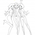 Coloriage Les Totally Spies!